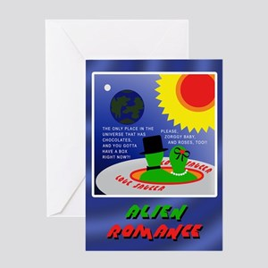ALIEN ROMANCE Greeting Card