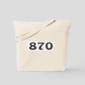 870 Area Code Tote Bag