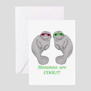 Cool Manatee Greeting Card
