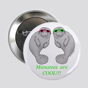 """Cool Manatee 2.25"""" Button"""