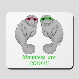 Cool Manatee Mousepad