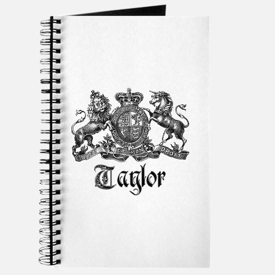 Taylor Vintage Crest Family Name Journal