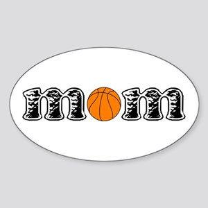 Basketball Mom Oval Sticker