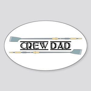 Crew Dad Oval Sticker