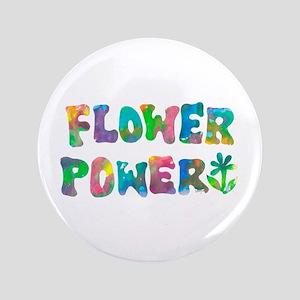 "Flower Power 3.5"" Button"