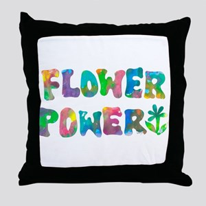 Flower Power Throw Pillow