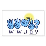 WWJD? Rectangle Sticker