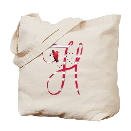 Monogrammed( H) Tote Bag