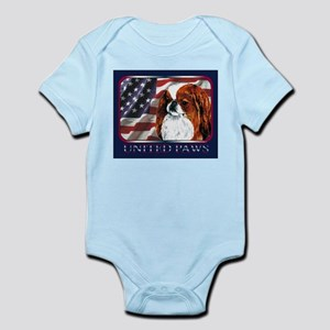 Red Japanese Chin USA Flag Infant Creeper