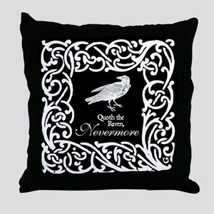 Raven Nevermore Throw Pillow