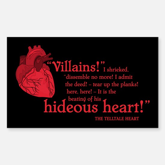 Telltale Heart Rectangle Decal