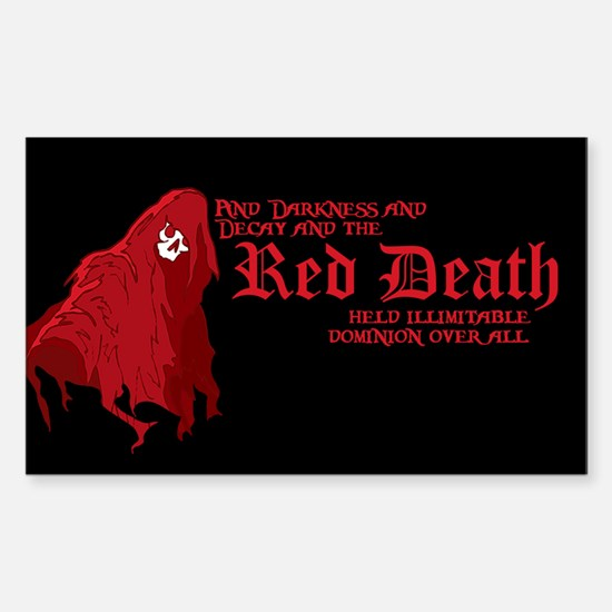 Red Death Rectangle Decal