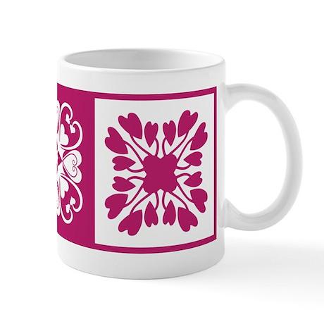 Hearts Hawaiian Quilt Mug