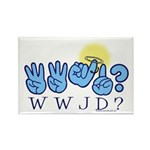WWJD? Rectangle Magnet (100 pack)