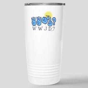 WWJD? Stainless Steel Travel Mug