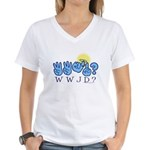 WWJD? Women's V-Neck T-Shirt