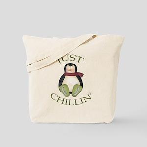 Just Chillin Penguin Tote Bag