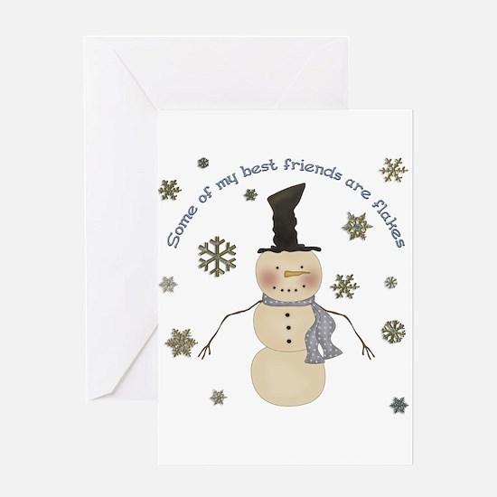 Cute Snowflake Greeting Card