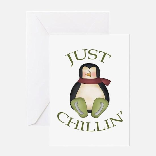 Cute Penguin power Greeting Card