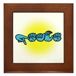 PEACE Glow Framed Tile