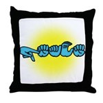 PEACE Glow Throw Pillow