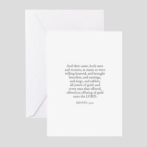 EXODUS  35:22 Greeting Cards (Pk of 10)