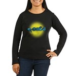 PEACE Glow Women's Long Sleeve Dark T-Shirt