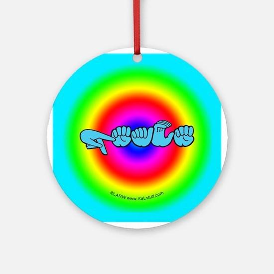 Rainbow PEACE Ornament (Round)