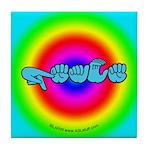 Rainbow PEACE Tile Coaster