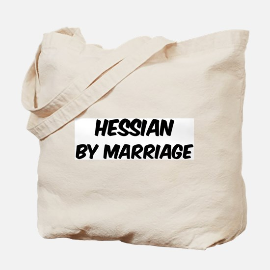 Hessian by marriage Tote Bag