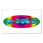 Rainbow PEACE Rectangle Sticker