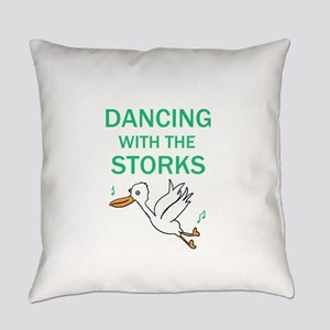 Dancing with the Storks Everyday Pillow