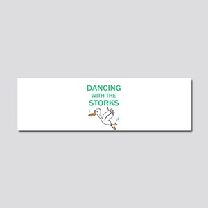Dancing with the Storks Car Magnet 10 x 3