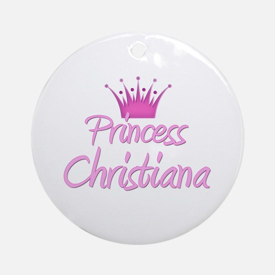 Princess Christiana Ornament (Round)