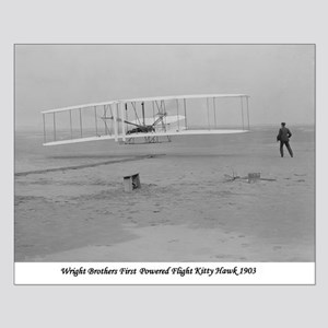 Wright Bros at Kitty Hawk 190 Small Poster