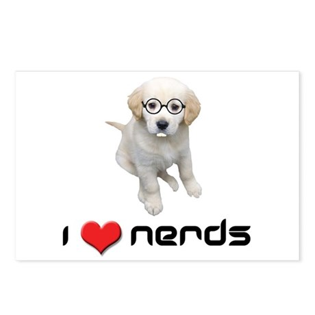 I heart Nerds Postcards (Package of 8)