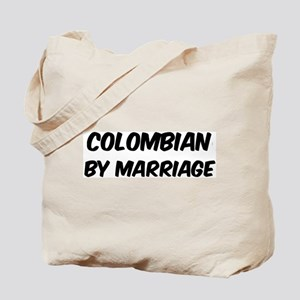 Colombian by marriage Tote Bag