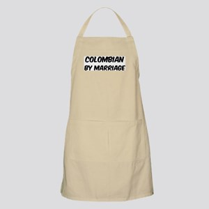 Colombian by marriage BBQ Apron