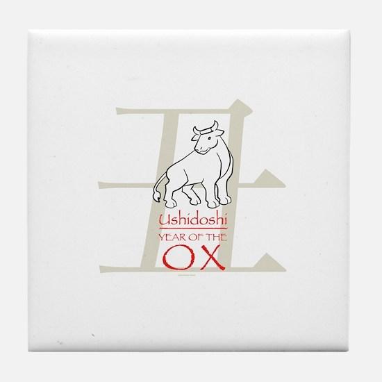 Ushidoshi - Year of the Ox Tile Coaster