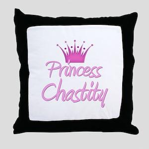Princess Chastity Throw Pillow