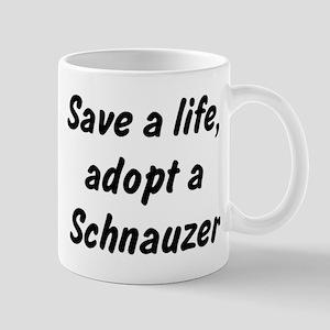 Adopt Schnauzer Mug