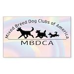 MBDCA logo Rectangle Sticker 50 pk)