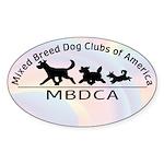 MBDCA logo Oval Sticker (50 pk)