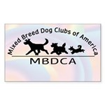 MBDCA logo Rectangle Sticker