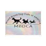 MBDCA logo Rectangle Magnet (100 pack)