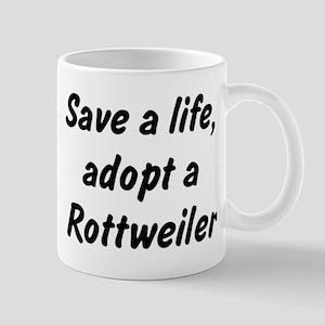 Adopt Rottweiler Mug