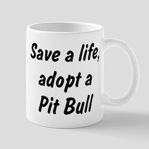 Adopt Pit Bull Mug