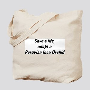 Adopt Peruvian Inca Orchid Tote Bag