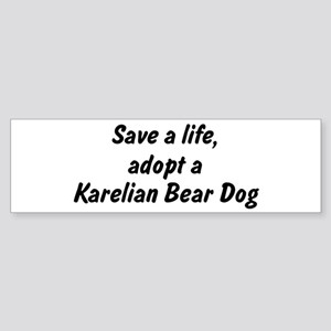 Adopt Karelian Bear Dog Bumper Sticker