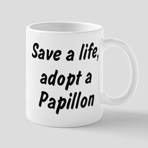 Adopt Papillon Mug